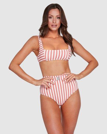 1 Cassy Stripe Hi Retro Bikini Bottoms Pink 6503774 Billabong