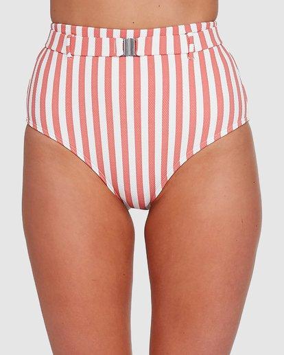 3 Cassy Stripe Hi Retro Bikini Bottoms Pink 6503774 Billabong