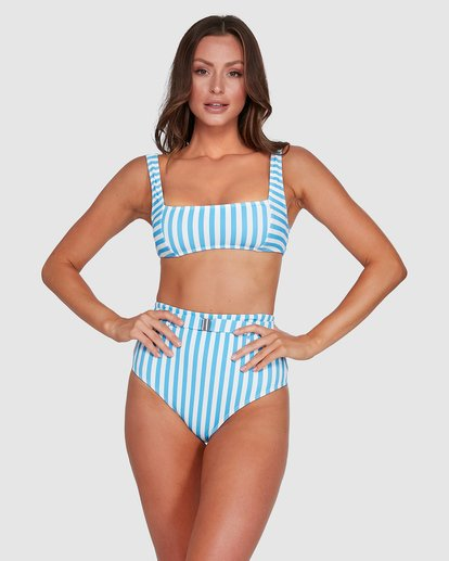 1 Cassy Stripe Hi Retro Bikini Bottoms Blue 6503774 Billabong