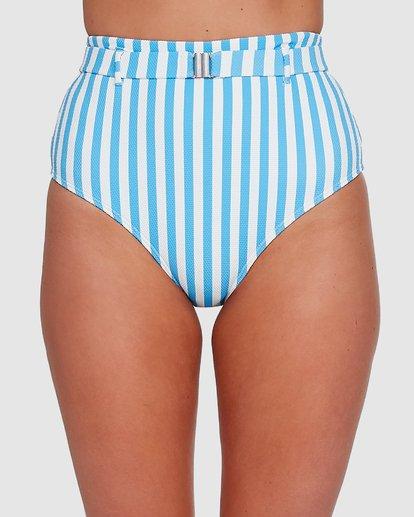 3 Cassy Stripe Hi Retro Bikini Bottoms Blue 6503774 Billabong