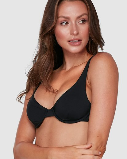 11 Sol Searcher Drift Bra Bikini Top Black 6503838 Billabong