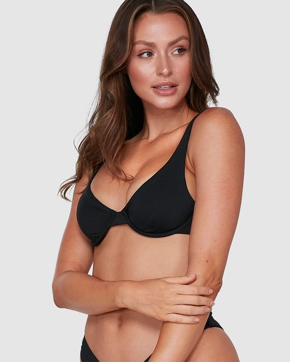 6 Sol Searcher Drift Bra Bikini Top Black 6503838 Billabong
