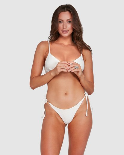 1 Crystal Tides Tanga Bikini Bottoms White 6503887 Billabong