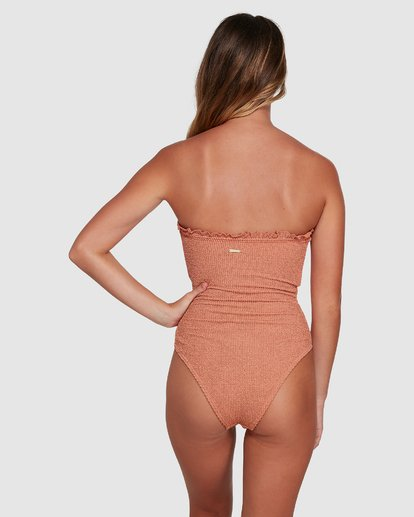 4 Summer High Bandeau One Piece Beige 6503890 Billabong