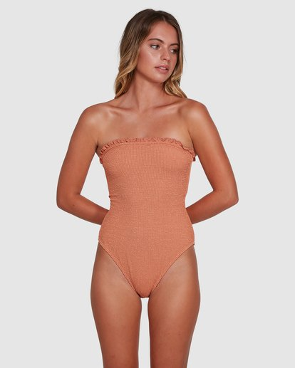 2 Summer High Bandeau One Piece Beige 6503890 Billabong