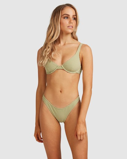 1 Surf Check Bra Bikini Top Green 6503947 Billabong