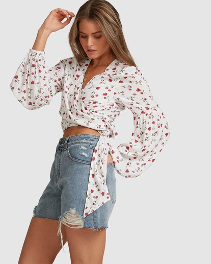 3 Sweet Soul Wrap Top - Steph Claire Smith White 6504155 Billabong