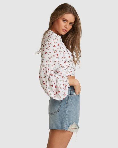 5 Sweet Soul Wrap Top - Steph Claire Smith White 6504155 Billabong
