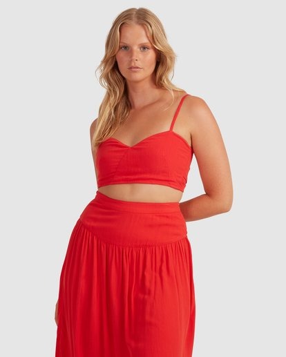 1 Mrs. Miller Top - Steph Claire Smith Red 6504156 Billabong