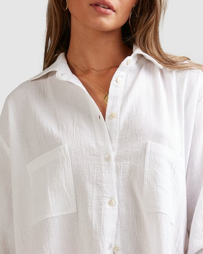 6 Beach Bliss Blouse - Steph Claire Smith White 6504157 Billabong