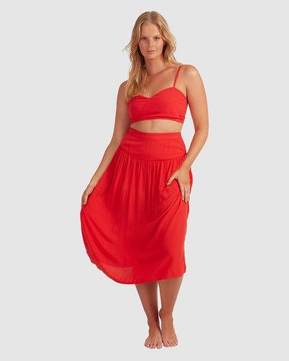 2 Mrs. Miller Skirt - Steph Claire Smith Red 6504327 Billabong