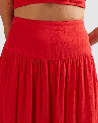 9 Mrs. Miller Skirt - Steph Claire Smith Red 6504327 Billabong