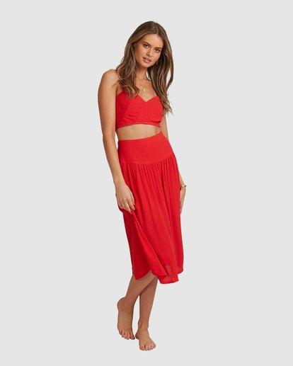 4 Mrs. Miller Skirt - Steph Claire Smith Red 6504327 Billabong