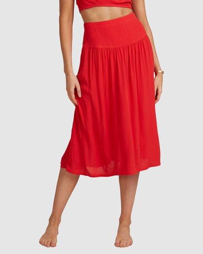 7 Mrs. Miller Skirt - Steph Claire Smith Red 6504327 Billabong