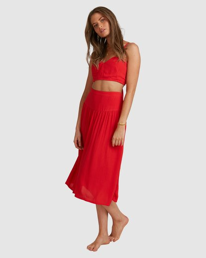 5 Mrs. Miller Skirt - Steph Claire Smith Red 6504327 Billabong