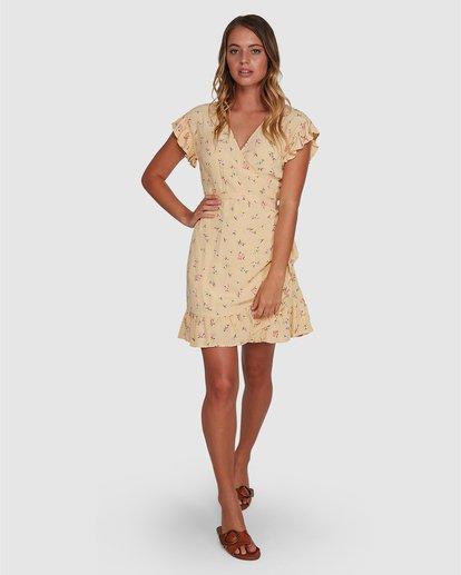 5 Pretty Moon Wrap Dress Yellow 6504472 Billabong