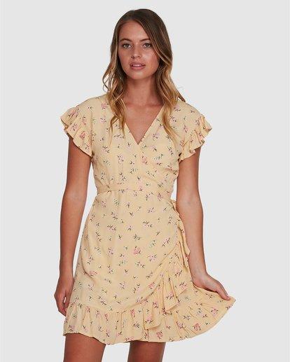 1 Pretty Moon Wrap Dress Yellow 6504472 Billabong