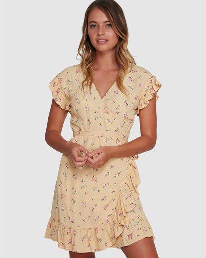 0 Pretty Moon Wrap Dress Yellow 6504472 Billabong