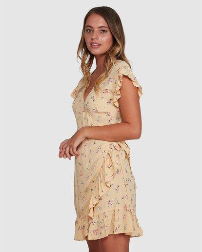 2 Pretty Moon Wrap Dress Yellow 6504472 Billabong