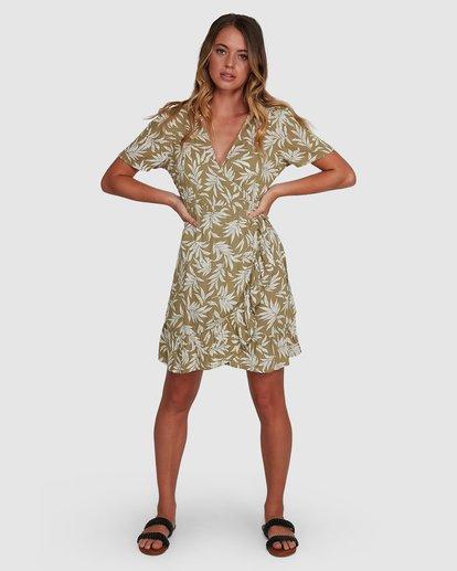 6 Lei Lei Wrap Dress Green 6504477 Billabong