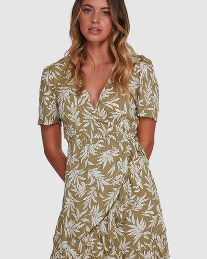 4 Lei Lei Wrap Dress Green 6504477 Billabong