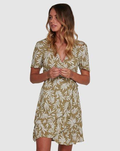 1 Lei Lei Wrap Dress Green 6504477 Billabong