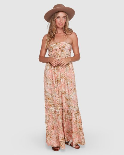 1 Hula Palms Atlantis Maxi Dress Beige 6504485 Billabong