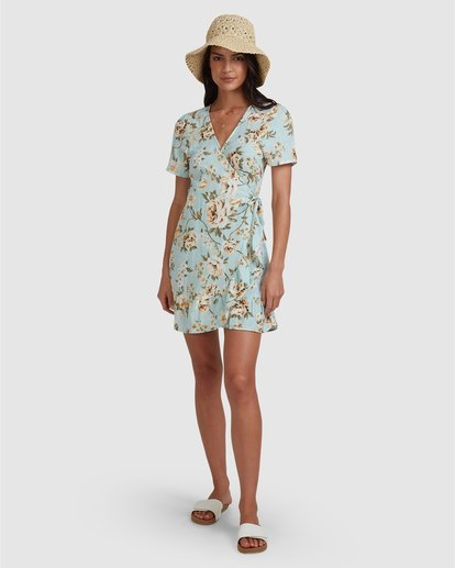 6 Laguna Wrap Dress Blue 6504491 Billabong