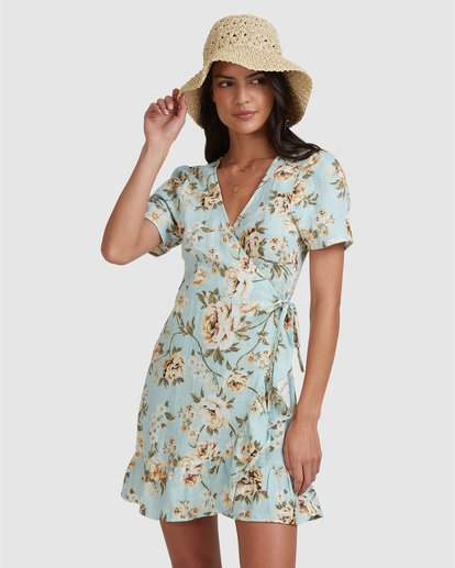 3 Laguna Wrap Dress Blue 6504491 Billabong