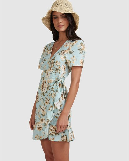 2 Laguna Wrap Dress Blue 6504491 Billabong