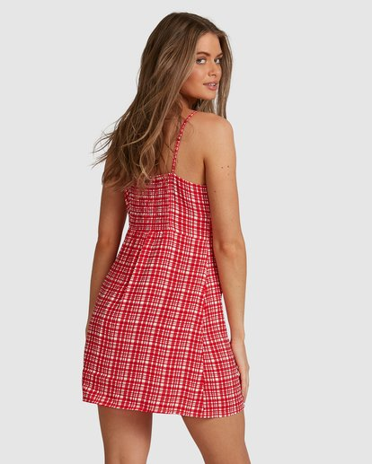 7 Git It Gingham Dress - Steph Claire Smith Red 6504506 Billabong
