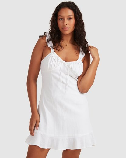 0 Beach Bliss Dress - Steph Claire Smith White 6504508 Billabong
