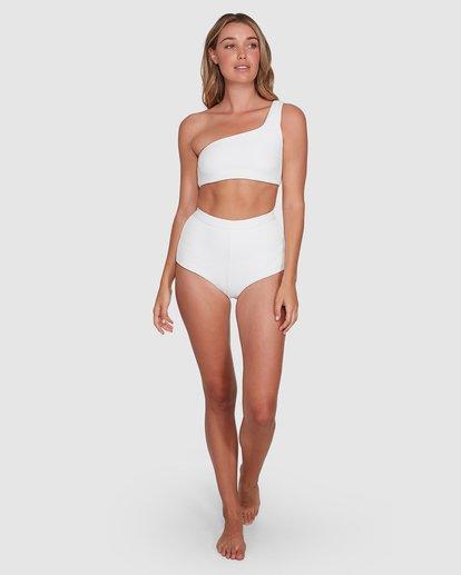 8 Waffle One Shoulder Crop Bikini Top White 6504749 Billabong