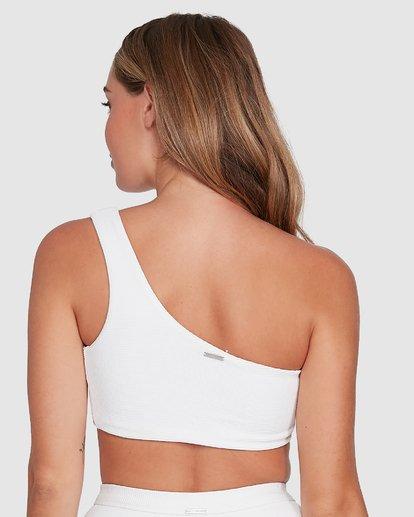 2 Waffle One Shoulder Crop Bikini Top White 6504749 Billabong