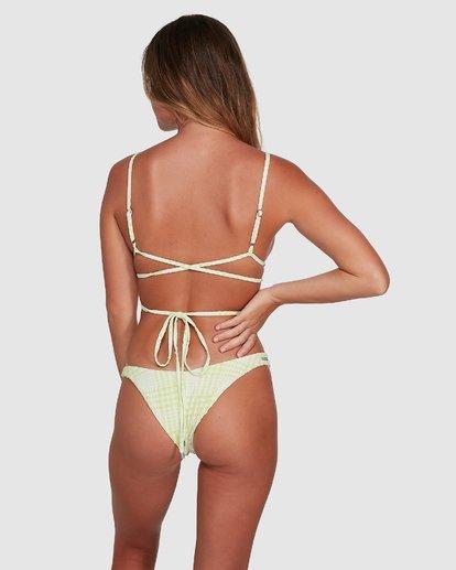 5 Picnic Check Long Wrap Tri Bikini Top Green 6504760 Billabong