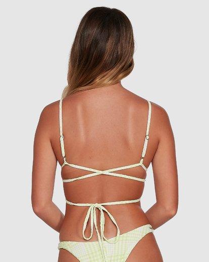 2 Picnic Check Long Wrap Tri Bikini Top Green 6504760 Billabong
