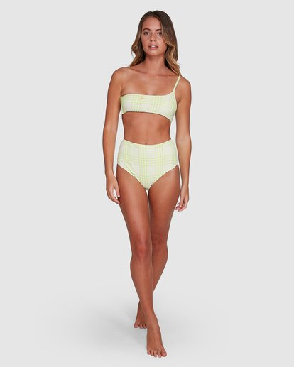 8 Picnic Check One Shoulder Bikini Top Green 6504761 Billabong