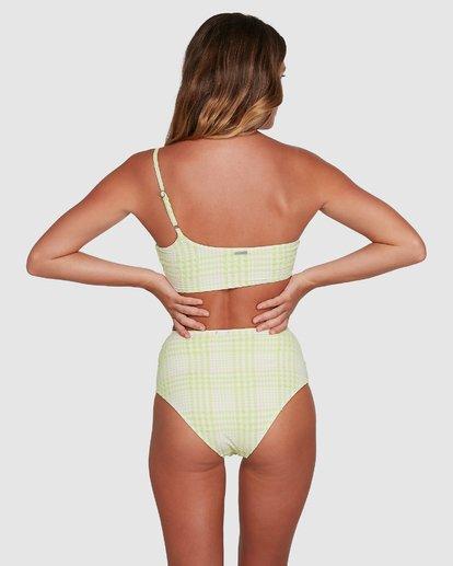 5 Picnic Check One Shoulder Bikini Top Green 6504761 Billabong