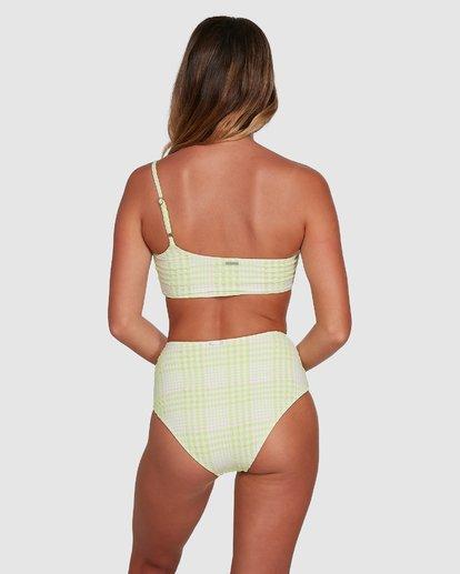 2 Picnic Check One Shoulder Bikini Top Green 6504761 Billabong