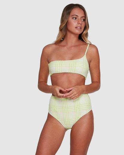 3 Picnic Check One Shoulder Bikini Top Green 6504761 Billabong