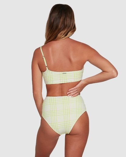 1 Picnic Check Hi Retro Bikini Bottoms Green 6504763 Billabong