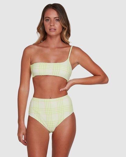 2 Picnic Check Hi Retro Bikini Bottoms Green 6504763 Billabong