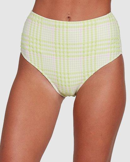 4 Picnic Check Hi Retro Bikini Bottoms Green 6504763 Billabong