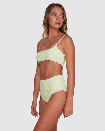 3 Picnic Check Hi Retro Bikini Bottoms Green 6504763 Billabong