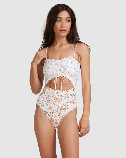 1 This Gypsy Cut Out Bandeau One Piece Pink 6504780 Billabong