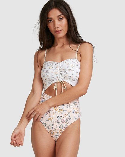 0 This Gypsy Cut Out Bandeau One Piece Pink 6504780 Billabong