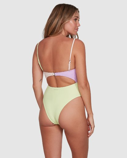 3 Tanlines Knot Front One Piece Green 6504821 Billabong