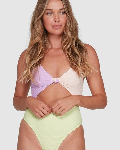 4 Tanlines Knot Front One Piece Green 6504821 Billabong
