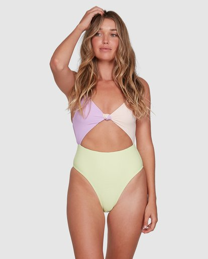 1 Tanlines Knot Front One Piece Green 6504821 Billabong