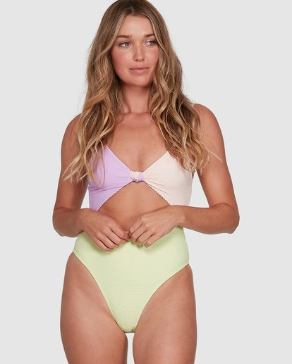 0 Tanlines Knot Front One Piece Green 6504821 Billabong